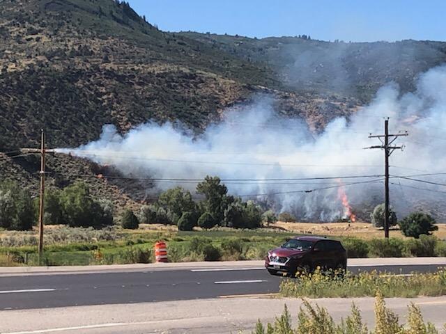 Fire in Glenwood Springs near Sunset Court