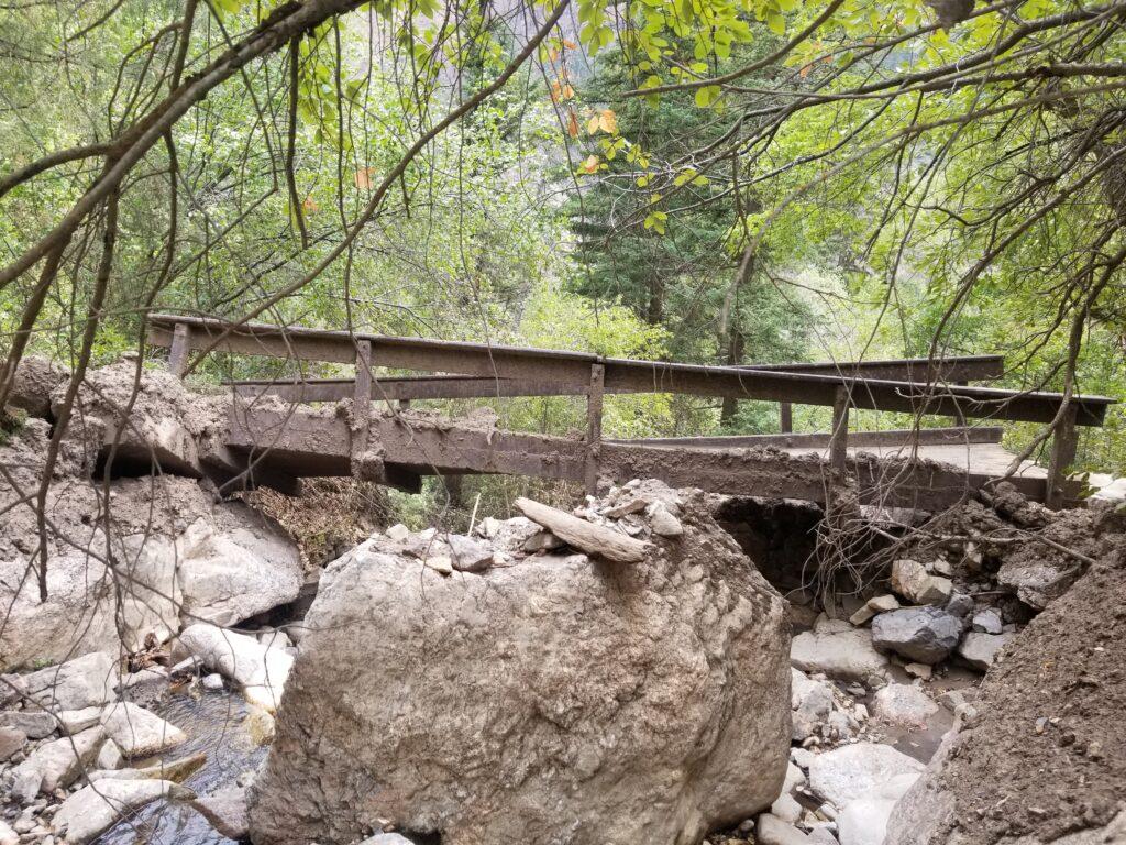 Hanging Lake bridge damage