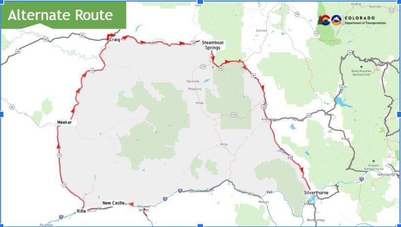 Glenwood Canyon detour route